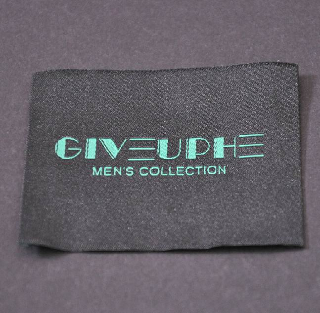 Woven Green To Black Damask_Labels