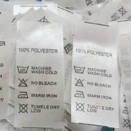 Woven Wash Care Labels Printing