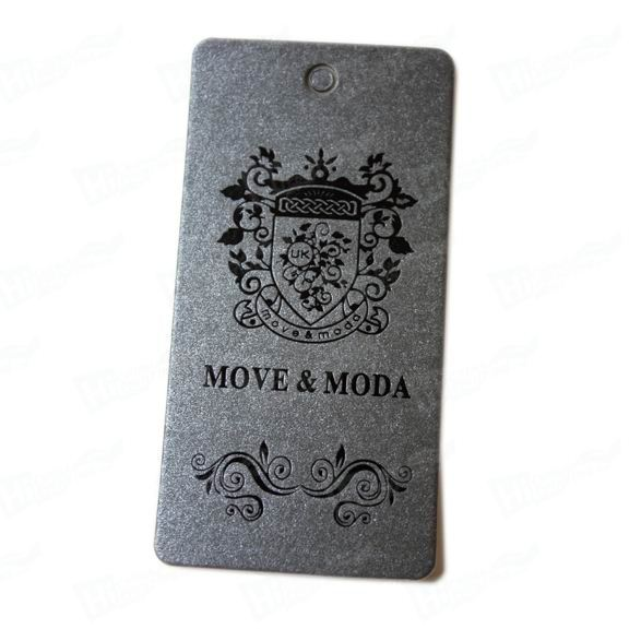 Black Gold Foil Paper Tags Printing