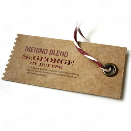 Garment Or Luggage Kraft Paper Tag Printing