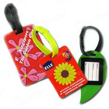 Plastic Luggage Tag with PVC loop