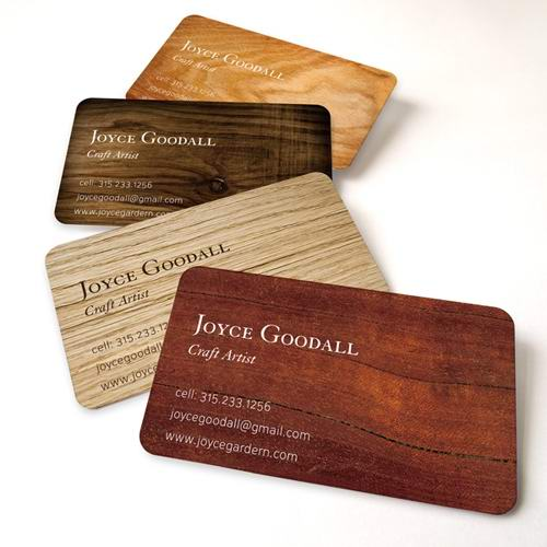 Wood Business Cards Printing